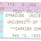 1992 Texas v Syracuse Ticket Stub