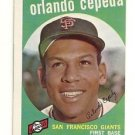 1959 Topps Orlando Cepeda San Francisco Giants # 390