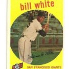 1959 Topps Bill White Rookie Card San Francisco Giants # 359