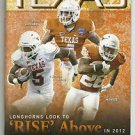 2012 Texas Football Lot of 6 Programs - Complete Home Schedule