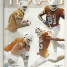 2009 Texas Football Lot of 6 Programs - Complete Home Schedule
