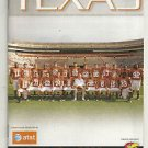 2010 Texas Football Lot of 9 Programs - Complete Home Schedule + Rice