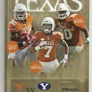 2014 Texas Football Lot of 6 Programs - Complete Home Schedule