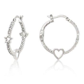 Star Studded Hoop Earrings