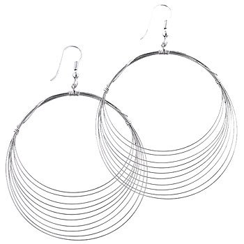 Sliver Crest Hoop Earrings