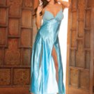 (Medium) Front Slit Charmeuse Gown