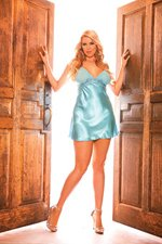 (3x) Mesh Cup Charmeuse Chemise