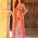 (XLarge) Halter Neck Animal Print Gown