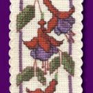 Irish Fuchsia Bookmark Counted Cross Stitch Kit
