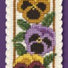 Pansies Bookmark Counted Cross Stitch Kit