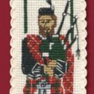 Scottish Piper Bookmark Counted Cross Stitch Kit
