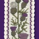Scottish Thistle Bookmark Counted Cross Stitch Kit