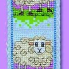 Wee Wooly Sheep Bookmark Counted Cross Stitch Kit