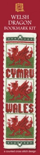 Welsh Dragon Bookmark Counted Cross Stitch Kit