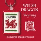 Welsh Dragon Keyring Counted Cross Stitch Kit