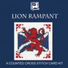 Lion Rampant Counted Cross Stitch Card Kit