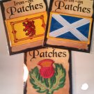 Scottish Patches - Set of Three (Free Shipping)