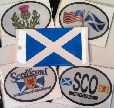Scotland Stickers - Set of Five (Free Shipping)