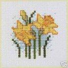 Daffodil Counted Cross Stitch Card Kit