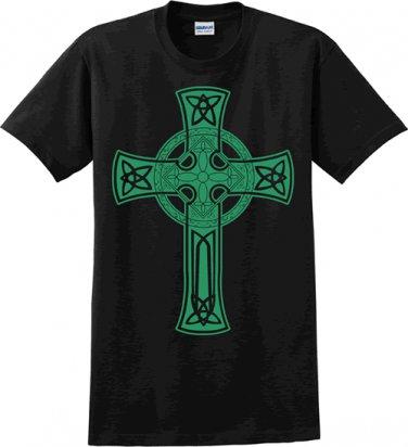 Celtic Cross Black t-shirt - Size Large