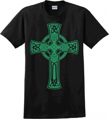 Celtic Cross Black t-shirt - Size XLarge
