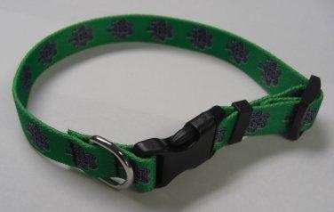 Dog Collar - Knotted Shamrock - size Large