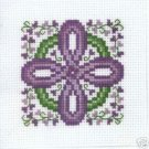 Celtic Lavender Cross - Cross Stitch chart