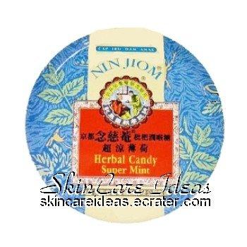 Nin Jiom Herbal Candy Super Mint 60g (Pack of 2)
