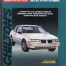 Chilton&#39;s General Motors Calais/GrandAm/Skylark/Somerset 1985-92 Repair Manual