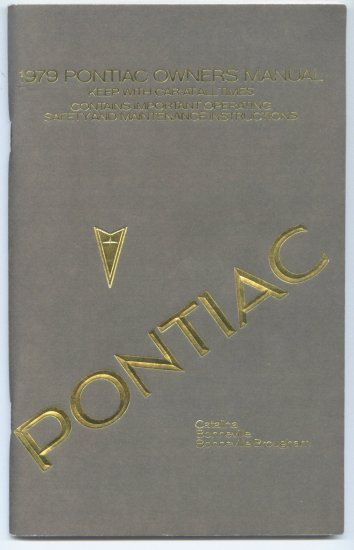 1979 Pontiac Catalina - Bonneville - Bonneville Brougham Owners Manual