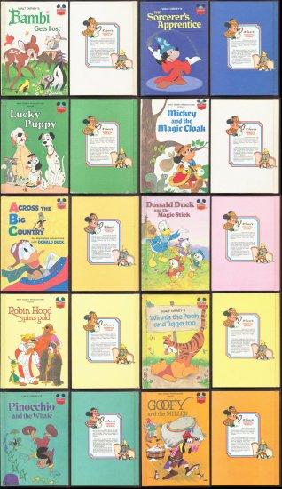 Walt Disney Books - Lot of 42 - Vintage Random House World of Reading