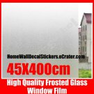 100%NEW~ 45cm Frosted Privacy Glass Window Vinyl Film Sticker Wallpaper Shower Doors Office Glass