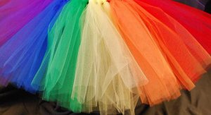 'ORIGINAL RAINBOW' toddler girls tutu