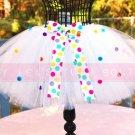 RAINBOW POLKA DOT | toddler 'bows-n-bling' tutu