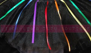 'DARK SIDE OF THE RAINBOW' teen girls tutu