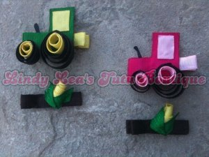 CORN and JOHN DEERE [set of 2 - tractor and corn] | CLIPPIE