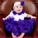 PURPLE PIZZAZ | rosette onesie