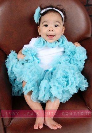 CARIBBEAN BLUE | rosette onesie