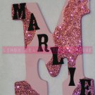 GLITTER PINK CAMO - INITIAL with Name