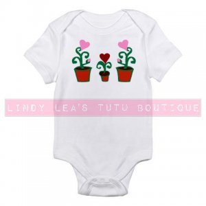 HEART FLOWERS in POTS |  infant bodysuit