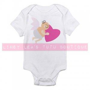CUPID w HEART    infant bodysuit