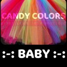 'CANDY COLORS' baby girls tutu