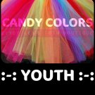 'CANDY COLORS' youth girls tutu