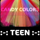 'CANDY COLORS' teen girls tutu