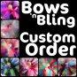 CUSTOM ORDER   TEEN girls bows'n bling tutu