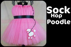 SOCK HOP POODLE   TODDLER girls special occasion tutu dress