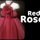 'RED ROSE' | TODDLER girls special occasion tutu dress