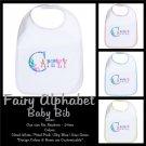 FAIRY ALPHABET | personalizable baby bib