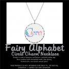 FAIRY ALPHABET | personalizable circle charm necklace
