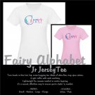 FAIRY ALPHABET | personalizable jr jersey tee